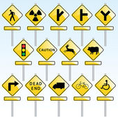 Vector set of various traffic signs