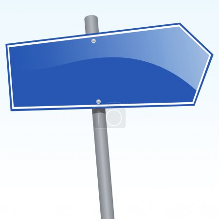Illustration for Vector illustration of a direction sign - Royalty Free Image
