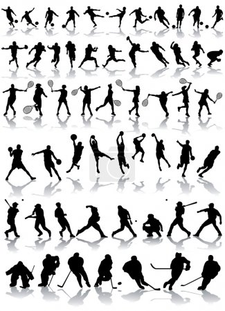 Photo for Vector set of sport silhouettes - Royalty Free Image