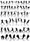 Vector set of sport silhouettes