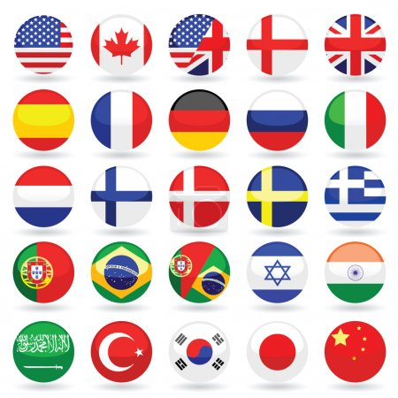 Photo for Vector language flag set - Royalty Free Image