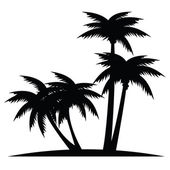 Vector illustration of palm trees