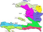Vector Haiti map