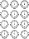Vektorové stříbrné hodiny