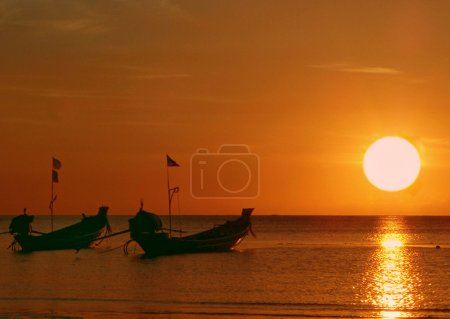 Golden sunset, Tao island, Thailand