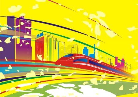Ilustración de Resumen de metro en la ciudad de antecedentes - Imagen libre de derechos