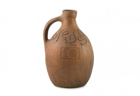 Ancient Jug isolated on white