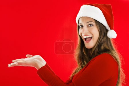 Excited Santa Girl showing