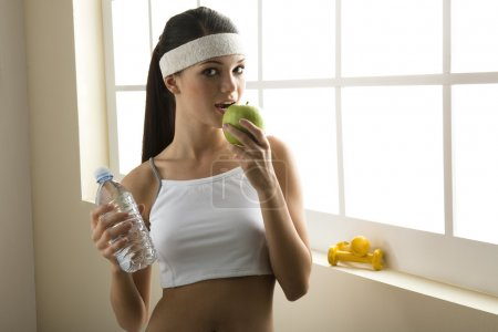 Healty eating and excercise. Concept: healthy life...
