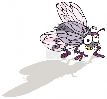 Illustration for Illustration of funny fly insect - Royalty Free Image