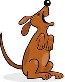Happy barking dog