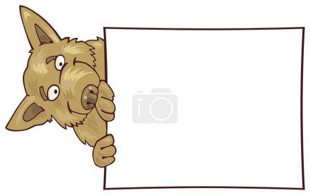German shepherd dog with card