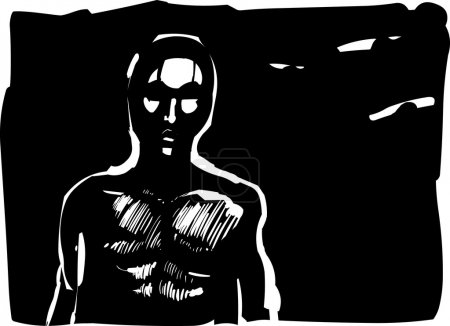 Man contour in shadow