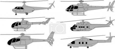 Illustration for Vector pack of various high detailed helicopters - Royalty Free Image
