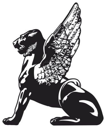 Griffin - mythical animal illustration