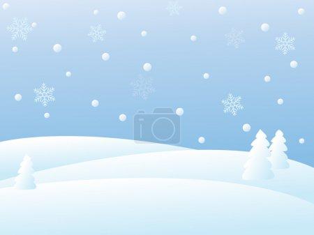 Vector winter scene