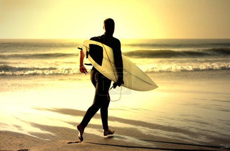 Photo for Surf teacher looking the sea - Royalty Free Image