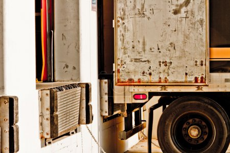 Photo for Commercial truck at loading dock to be loaded - Royalty Free Image