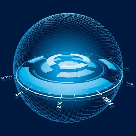 Illustration for Fantasy Space Navigation Sphere. Vector Illustration - Royalty Free Image