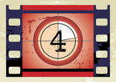 Scratched Film Countdown at No 4