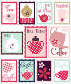 Romantic Post Stamps With China Set