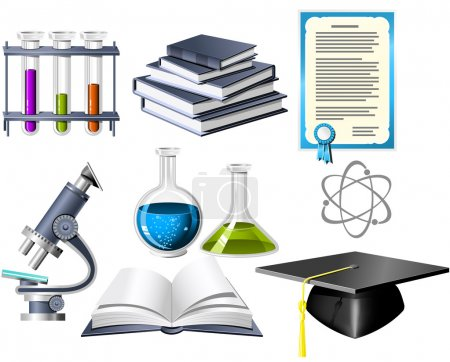 Illustration for Science and education icons - Royalty Free Image