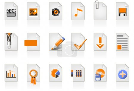 24 file icons of different file format...