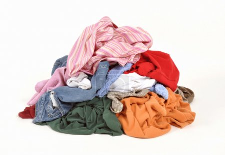 Photo for Pile of dirty clothes for the laundry - Royalty Free Image