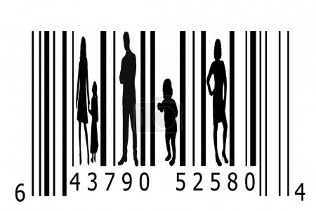 Bar code and silhouettes