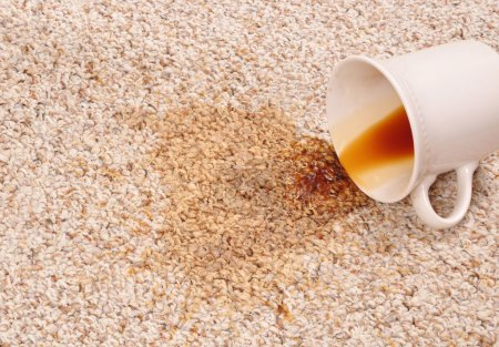Photo for Spilled coffee on the carpet - Royalty Free Image