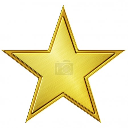Foto de Ilustración estrella dorada - Imagen libre de derechos