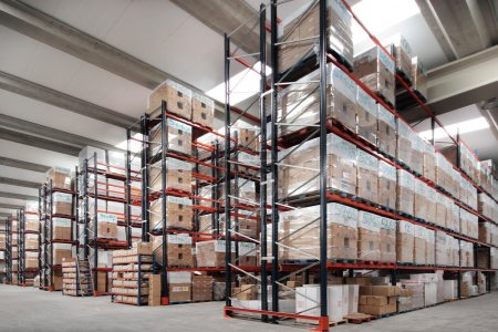 Photo for Shelves manufacturing storage in a warehouse - Royalty Free Image