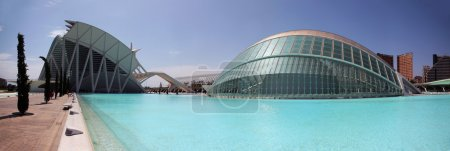 Hemispheric building in the sciencies and arts city in Valencia,Spain