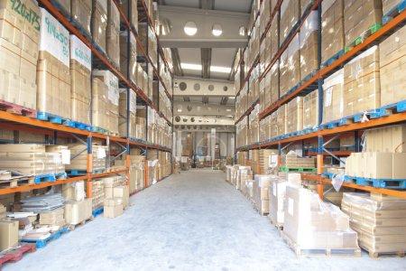 Photo pour Fabrication et stockage entrepôt vue intérieure - image libre de droit