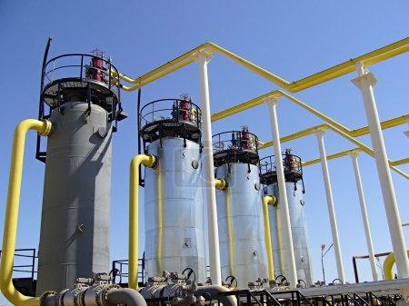 Photo pour Industrie du gaz naturel - image libre de droit