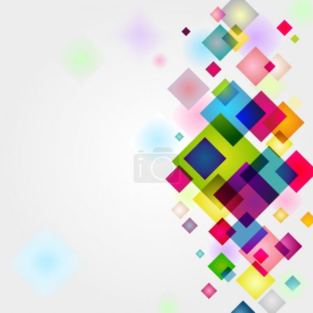 Illustration for Bright colorful vector squares background - Royalty Free Image