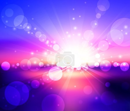 Illustration for Blurry sunset view. Vector illustration - Royalty Free Image