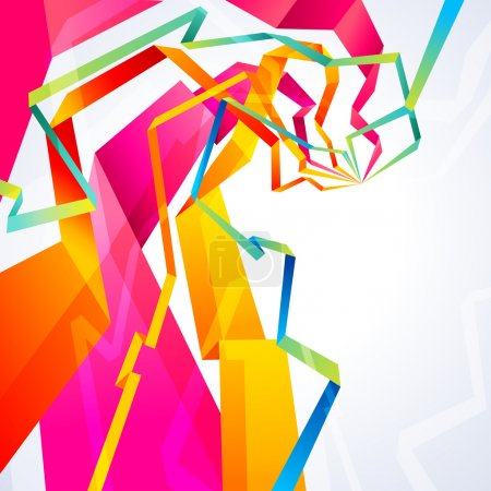 Illustration for Vector background with abstract origami lines - Royalty Free Image