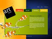 Webové stránky šablona