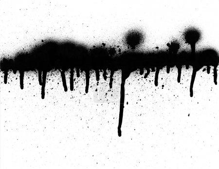 Photo pour Tag Graffiti avec les gouttes et grunge. haute résolution avec fond de Pentecôte. - image libre de droit