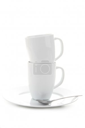 Photo pour Tasse à café sur fond blanc - image libre de droit