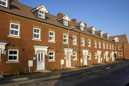 Photo for A row of new terraced houses - Royalty Free Image