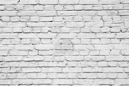 Photo pour Mur en brique blanche - image libre de droit