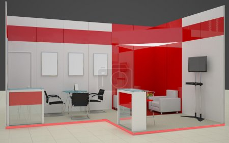 Photo for 3D exhibition stand - Royalty Free Image