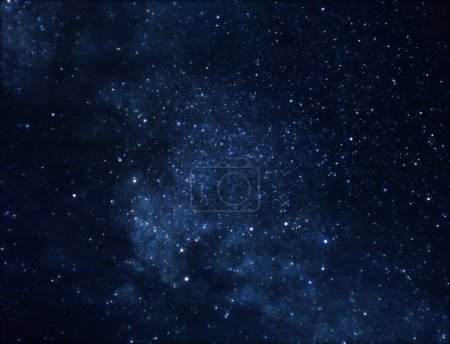 Photo for Astrophoto of deep space rich in stars - Royalty Free Image