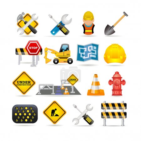 Illustration for Road icon set - Royalty Free Image