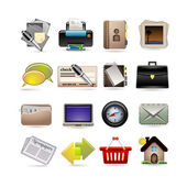 Online business icon set