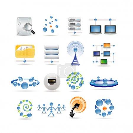 Illustration pour Icônes de connexion et Internet - image libre de droit