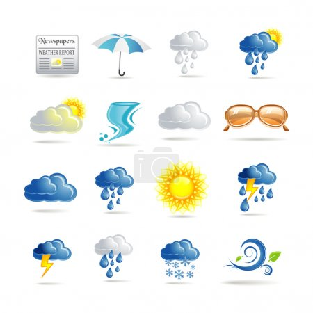 Illustration for Weather icons - Royalty Free Image