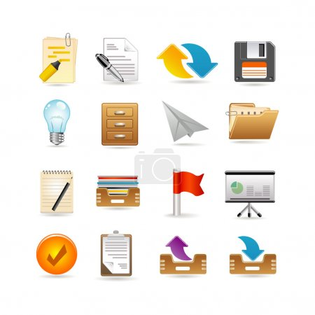 Illustration for Projects and documents icons - Royalty Free Image